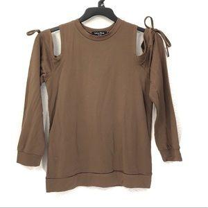 Lea & Viola Lounge Cold Shoulder Sweatshirt